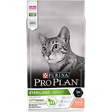 PURINA® PRO PLAN® STERILISED Adult 1+ Years med OPTIRENAL®Rig på Laks
