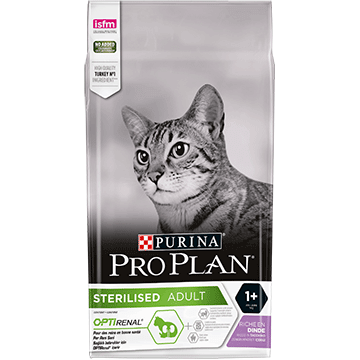 PURINA® PRO PLAN® STERILISED Adult 1+ Years med OPTIRENAL® Rig på Kalkun