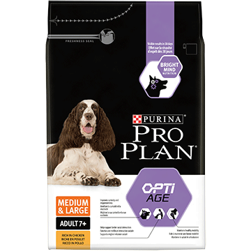​PURINA® PRO PLAN® Medium & Large Adult 7+ med OPTIAGE® Rig på kylling