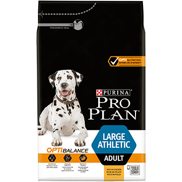 ​PURINA® PRO PLAN® Large Athletic Adult med OPTIBALANCE™ Rig på kylling