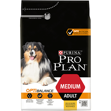 ​PURINA® PRO PLAN® Medium Adult med OPTIBALANCE™ Rig på kylling