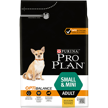 ​PURINA® PRO PLAN® Small & Mini Adult med OPTIBALANCE™ Rig på kylling