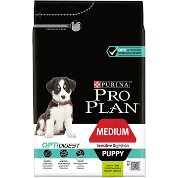 PURINA® PRO PLAN® Medium Puppy Sensitive Digestion med OPTIDIGEST® Rig på lam
