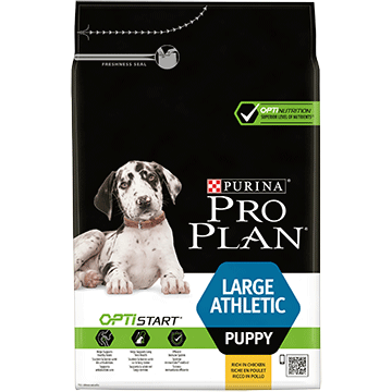​PURINA® PRO PLAN® Large Athletic Puppy med OPTISTART® Rig på kylling