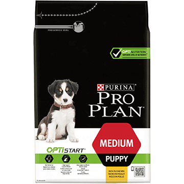 ​PURINA® PRO PLAN® Medium Puppy med OPTISTART® Rig på kylling